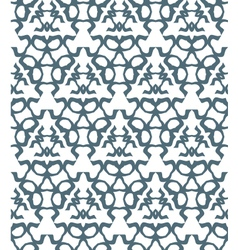 psychedelic abstract monochrome seamless pattern vector image