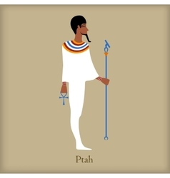 Ptah god of creation icon flat style vector
