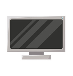 Realistic grayscale silhouette of lcd monitor vector