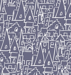 Royal Castle with towers seamless pattern vector image
