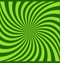 Spiral ray background - design from green rotated vector