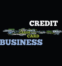 The lowdown on contractors business credit cards vector