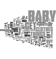 What do you buy a new born baby text word cloud vector