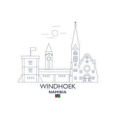 Windhoek city skyline vector