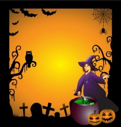 witch vector image