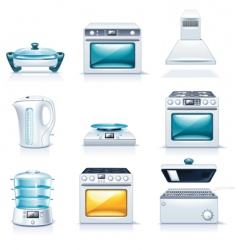 household appliances icons  vector image