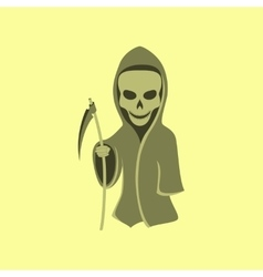 Flat on background of halloween death vector