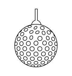 Disco lights ball isolated icon vector