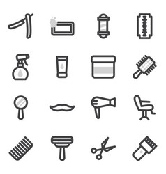 set of icons on the theme of accessories vector image
