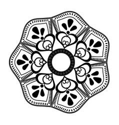 Flourish mandala decoration vintage for painting vector