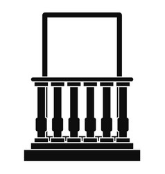 Door with columns icon simple style vector