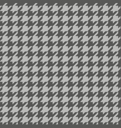 Houndstooth pattern grey vector