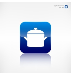 Kitchen pan icon vector