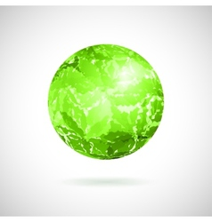 Abstract ball of green spots vector