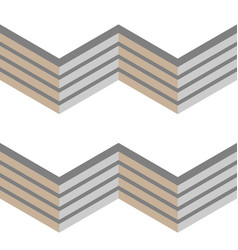 3d grey fence seamless chevron pattern vector image vector image