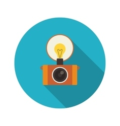 Retro flash camera vector