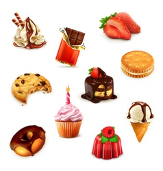 Confectionery set 1 vector image