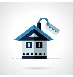 Property for sale flat icon vector