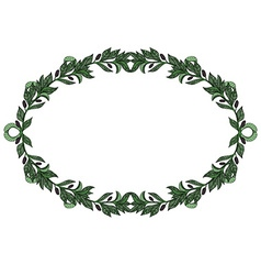 Green olive wreath vector