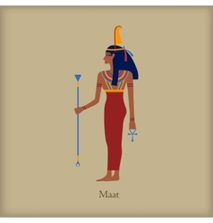Maat goddess of justice icon flat style vector