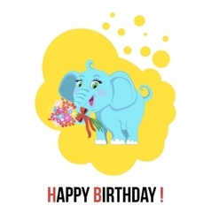Cute Elephant animal vector image