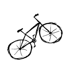 Bicycle sketch for your design vector