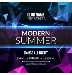 Modern summer club music party template dance vector