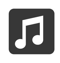 Sound music symbol vector