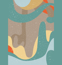 Abstract pattern natural colors and shapes vector