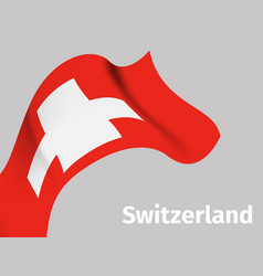 Background with switzerland wavy flag vector
