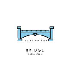bridge outline logo vector image vector image