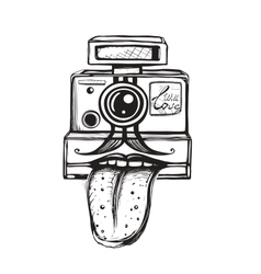 Camera and Photography Smiling Concept vector image