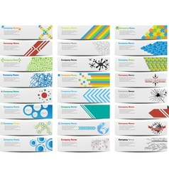 Colorful banner set of twenty-four vector