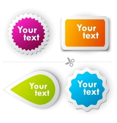 colorful sticker for text vector image vector image