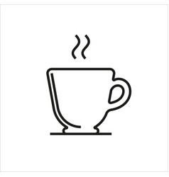 Cup simple icon on white background vector