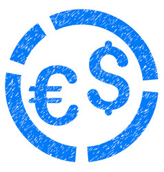 Currency diagram grunge icon vector