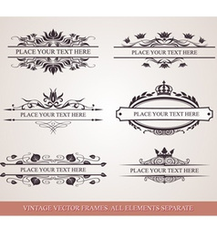 Design elements and frames vector
