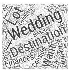 destination weddings Word Cloud Concept vector image vector image