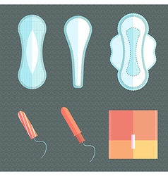 Feminine pads and tampons vector