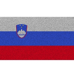 Flags Slovenia on denim texture vector image vector image