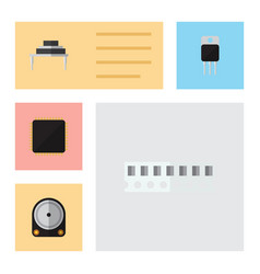 Flat electronics set of memory destination hdd vector