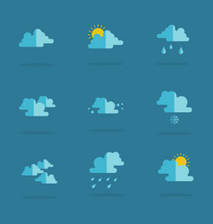 Flat of weather icon set vector