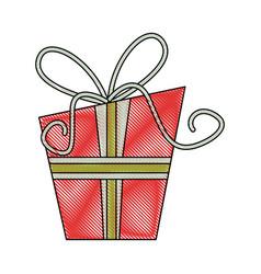 gift box with ribbon icon image vector image