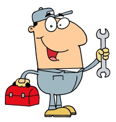 Happy Mechanic Guy vector image