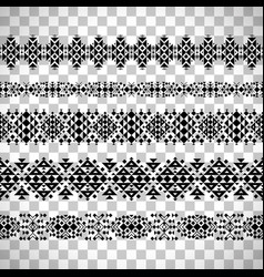 horizontal seamless ethnic pattern set vector image vector image