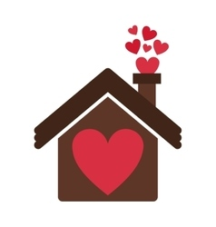 House with heart icon vector
