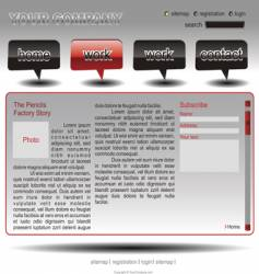 info website template vector image