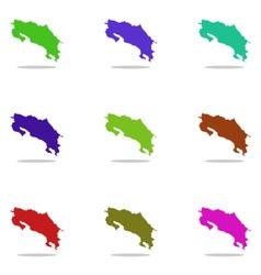 Map costa rica vector