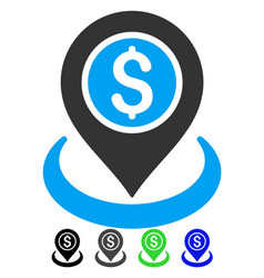 Money location flat icon vector