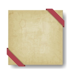 old paper background with red ribbon vector image